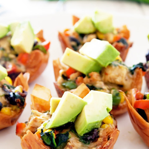 Spicy Southwestern Chicken Phyllo Cups