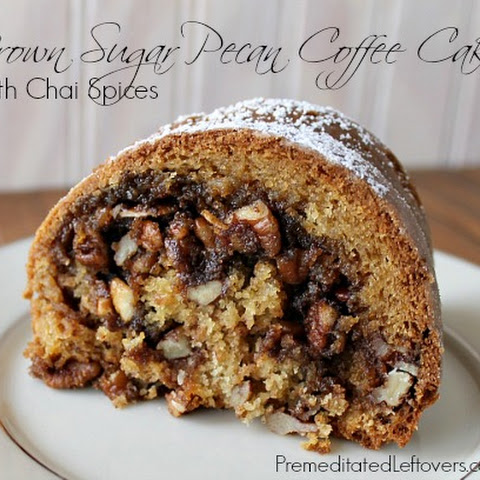 Brown Sugar Pecan Coffee Cake with Chai Spices