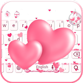 APK App Love Keyboard theme pink love for BB, BlackBerry