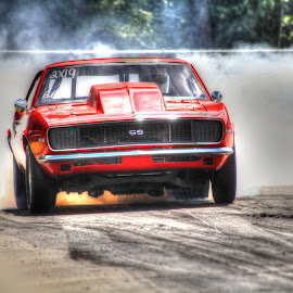 Burn Out SS by DB Channer - Transportation Automobiles ( car, red, hdr, race, chevy )