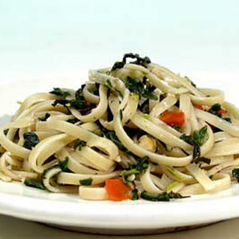 Fettuccini with Spinach Pesto