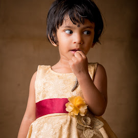 Whats that by Subhasis Mukherjee - Babies & Children Child Portraits ( child, girl, beauty, baby, cute )