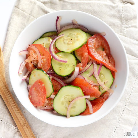 Simple Tomato Cucumber Salad