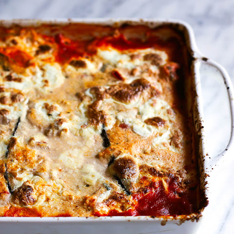 Low Carb Eggplant Lasagna with the Best Turkey Meat Sauce + Burrata
