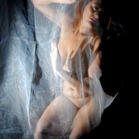 Dissociated by DJ Cockburn - Nudes & Boudoir Artistic Nude ( off camera flash, woman, mixed race, home shoot, model )