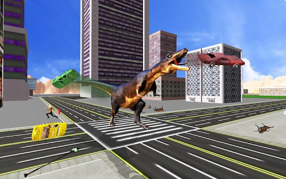 Super Dinosaur Attack Dino Robot Battle Simulator APK screenshot thumbnail 4