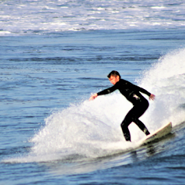 Surf and Sea by Leah Zisserson - Sports & Fitness Surfing ( narragansett, surfing, blue, rhode island, ocean,  )