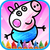 Easy Coloring Book Peppi Pig APK for Bluestacks