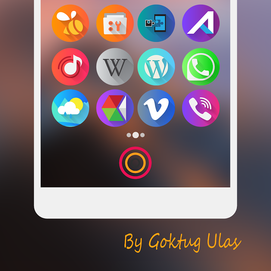Graby Spin - Icon Pack Screenshot 2
