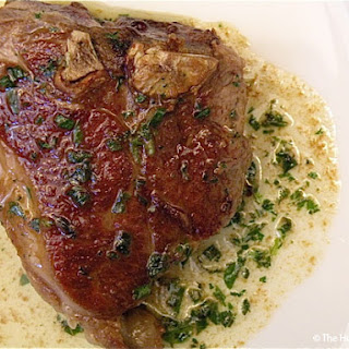 Lamb Loin Chops with Fresh Herbs & Cognac Butter Sauce