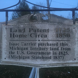 Land Patent 1825 Home Circa 1850  Isaac Carrier purchased this Michigan Territory land from the U.S. Government in 1825. (Michigan Statehood 1837).  Submitted by Bryan Arnold @nanowhiskers