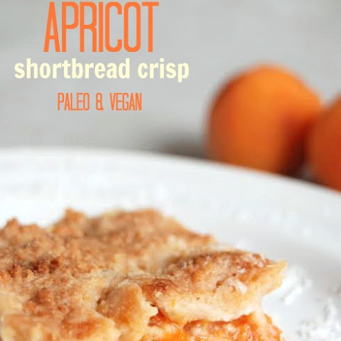 3 Ingredient Apricot Shortbread Crisp