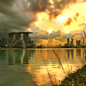 The Marina Bay Skylines by Alit  Apriyana - City,  Street & Park  Skylines