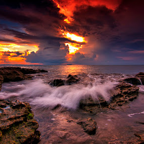 Claud in west bali II by Gus Mang Ming - Landscapes Waterscapes