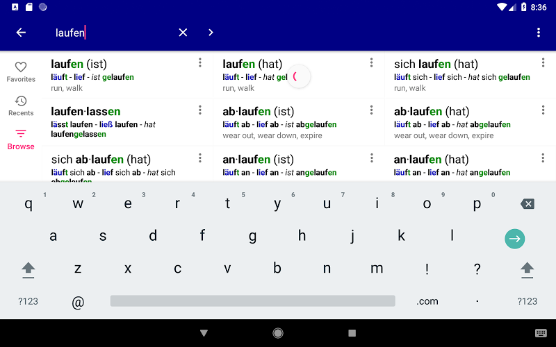 German Verbs Pro: conjugation translation grammar Screenshot 13