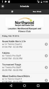 Northwood Racquet Club - screenshot