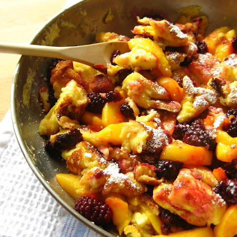 Kaiserschmarrn With Peaches And Blackberries