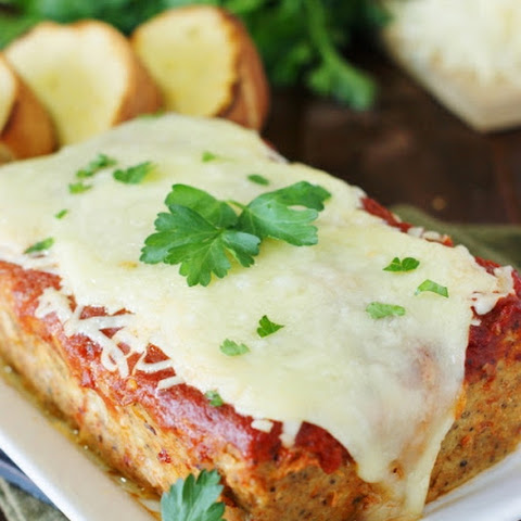 Chicken Parmesan Meatloaf (Printable recipe)