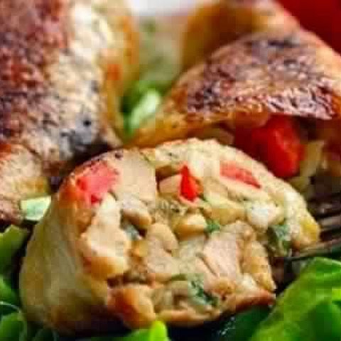Chicken Legs Stuffed With Mushrooms