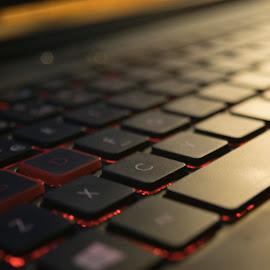 Keyboard by Marko Paakkanen - Artistic Objects Technology Objects ( computer, connection, keyboard, technology, shadow, light )