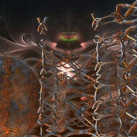 The Guard by Rick Eskridge - Illustration Sci Fi & Fantasy ( fantasy, jwildfire, mb3d, fractal, twisted brush )