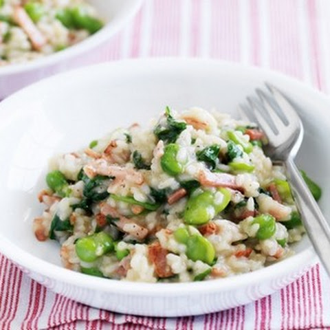Risotto With Beans, Bacon And Spinach