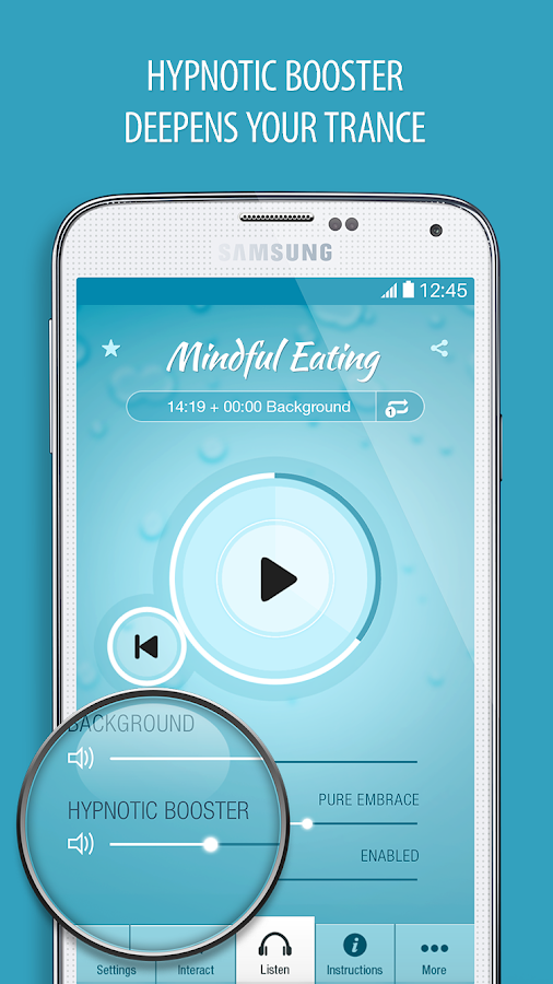 Mindful Eating Hypnosis Pro Screenshot 1