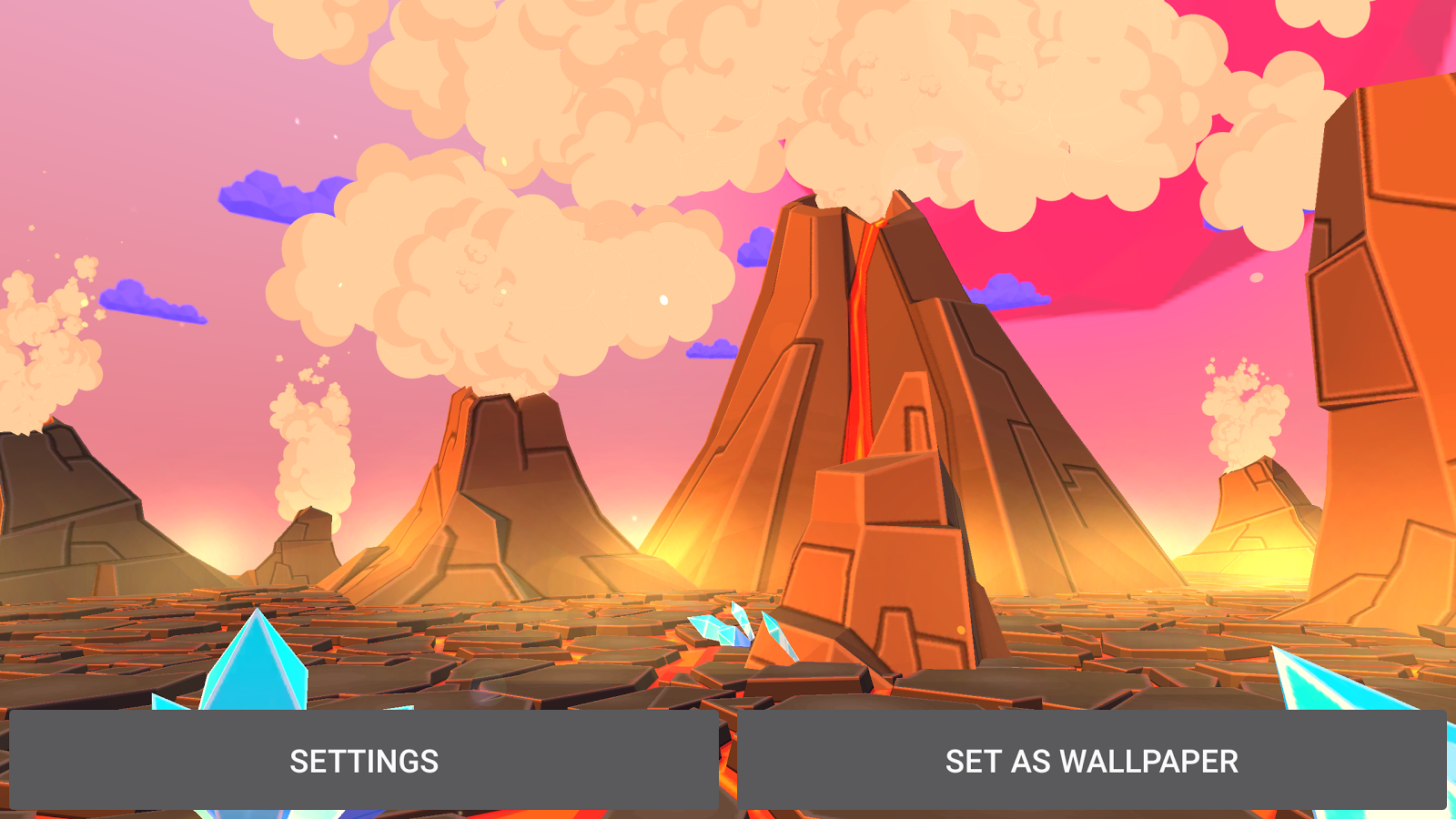 Volcano 3D Live Wallpaper Screenshot 9