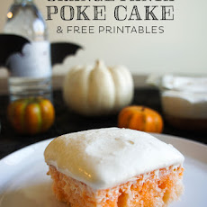 Orange Fanta Poke Cake