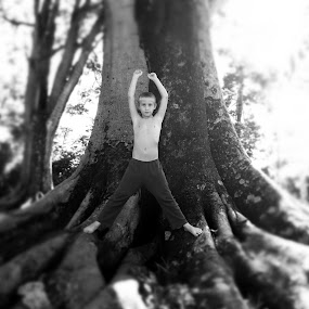 As Tall As The Trees by Gareth  Evans - Instagram & Mobile iPhone ( fantasy, child, trees, boy )
