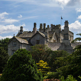 Building in the trees by Tom Bale - Buildings & Architecture Other Exteriors ( building, tree, exterior, grand, green, outdoor, buildings, stone, historical, historic )