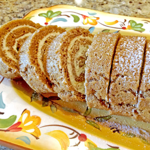 Pumpkin Roulade with Ginger Butter Cream