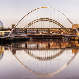 by Adam Lang - City,  Street & Park  Historic Districts ( quayside, gateshead, newcastle, bridges,  )