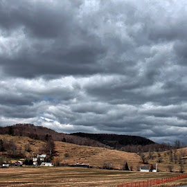 Just Before the Storm by Judy Laliberte - Novices Only Landscapes ( clouds, stormy, farmland, light )