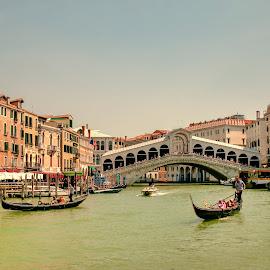 Venezia by Leonor Machado - City,  Street & Park  Historic Districts ( rialto, gondola, bridge, canal, veneza )