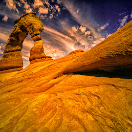 Delicate Arch by Stanley P. - Landscapes Mountains & Hills ( hills, mountains, arches, rock, landscapes )