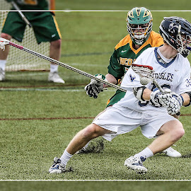 The Eyes of Terror by Elk Baiter - Sports & Fitness Lacrosse ( longstick midfielder, green terror, university of mary washington, umw, eagles, mcdaniel college, lacrosse )