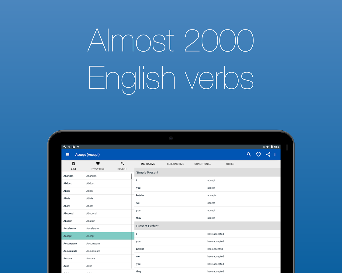 English Verb Conjugator Pro Screenshot 8