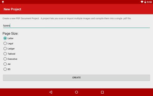 PDF Document Scanner - screenshot