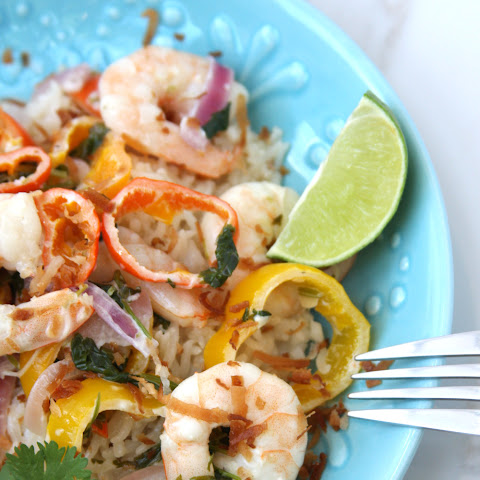 Coconut Lime Tequila Shrimp
