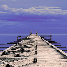Lets seat by Fotugraphar Quazi - Landscapes Travel ( blue sky, nature, waterscape, blue, wallpaper, penang, sea, malaysia, travel, jetty, landscape, gertak sanggur )