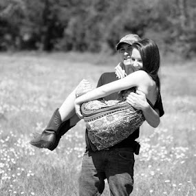 Grace and Cody by Sarah Minnihan - People Couples ( field, people, portrait, couples )