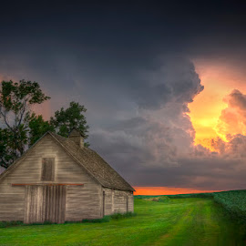 After the Storm by Ken Smith - Buildings & Architecture Other Exteriors ( barn, sunset, nebraska )