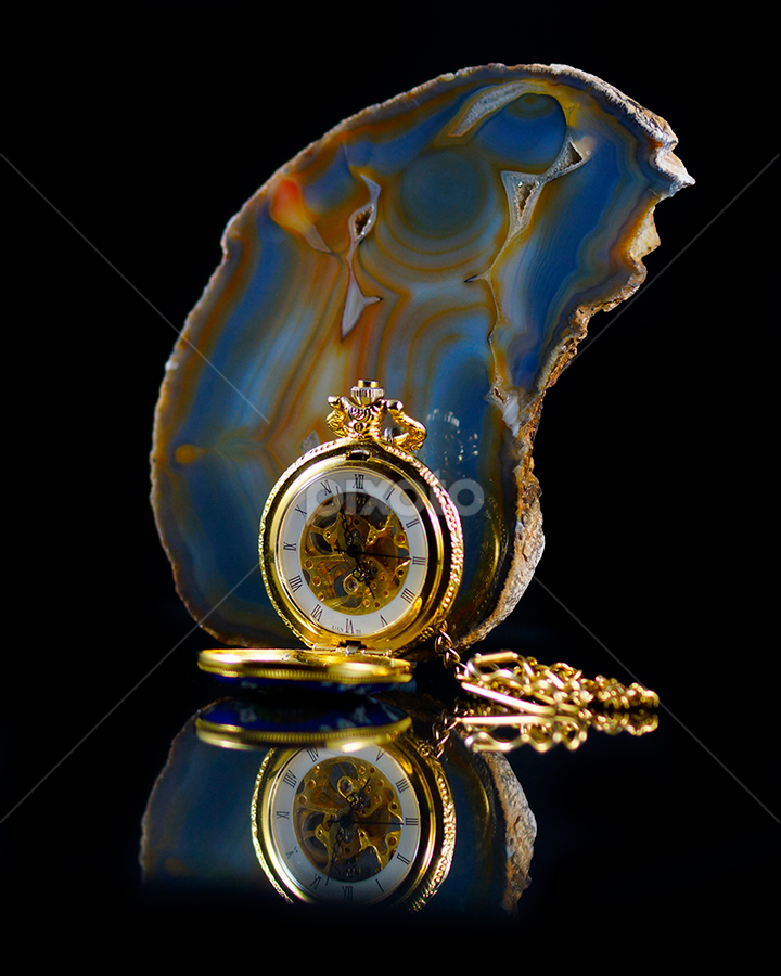 Pocket Watch 1 by Shaun White - Artistic Objects Antiques ( yeovil, watch, still life, quartz, gold )
