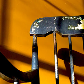 Off Her Rocker by Jon Ablicki - Artistic Objects Furniture ( chair, painted, rocking, color, artistic, sunlight, furniture, sun, black )
