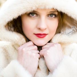 by Andrea Stefanac - People Portraits of Women ( jacket, woman, portret, white, fur, beauty )