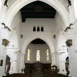 Anglican church interior by Zeljko Kliska - Buildings & Architecture Places of Worship ( religion, interior, church, sri lanka, travel, architecture )