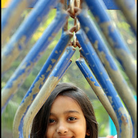 Smiling Navya by Mihir Shah - Babies & Children Children Candids ( girl, baby girl, candid, cute, smile, smiling )