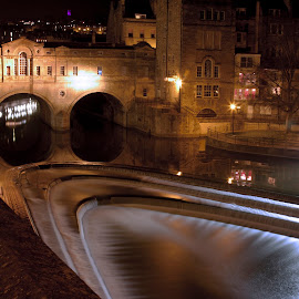 Bath, United Kingdom by Laura Ushay - Buildings & Architecture Bridges & Suspended Structures ( water, night photography, bath, historical, bridge )