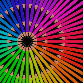 When Photography meets Editing... by Ramakant Sharda - Abstract Patterns ( abstract, pencil, patterns, pattern, abstract art, colorful, color, colors, colorfull, pencils )